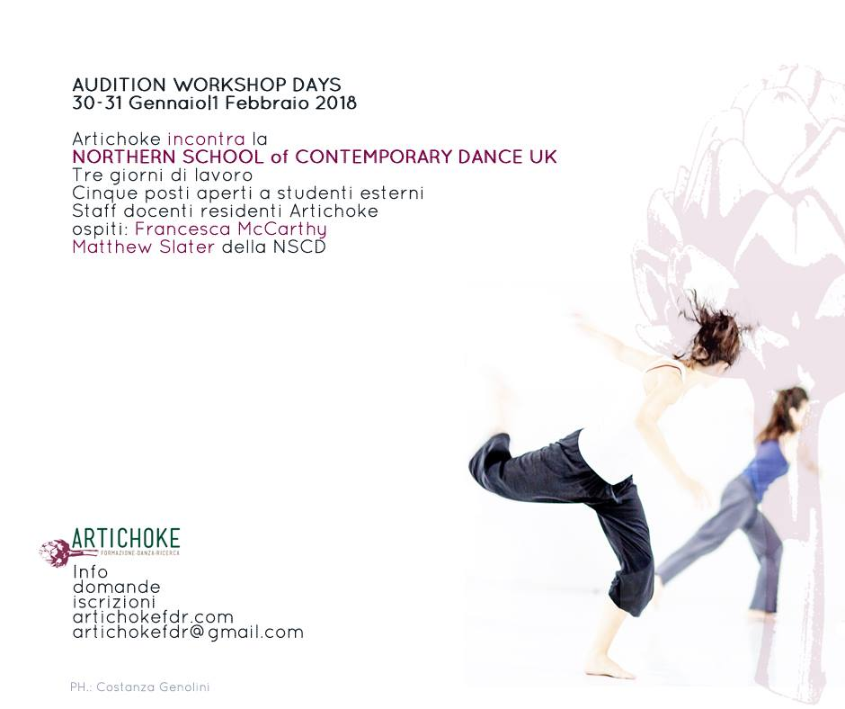 Audizione-workshop: Northern School of Contemporary Dance