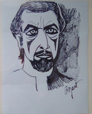 Maurice Béjart ritratto da Francesca Camponero
