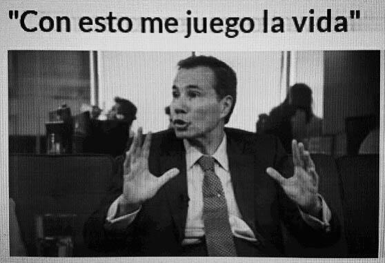 Nisman-me juego la vida
