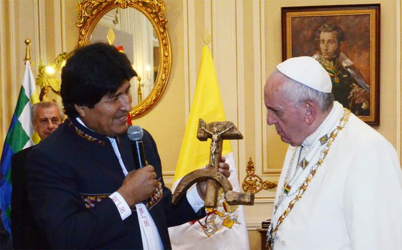 papa francisco-evo morales