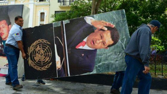 imagen de Hugo Chávez expulsada de la nueva Asamblea Nacional venezolana