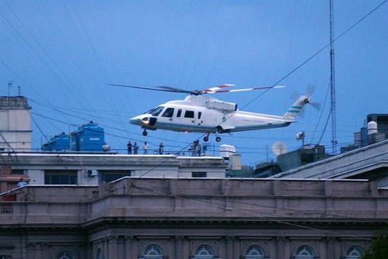 de la rua helicoptero