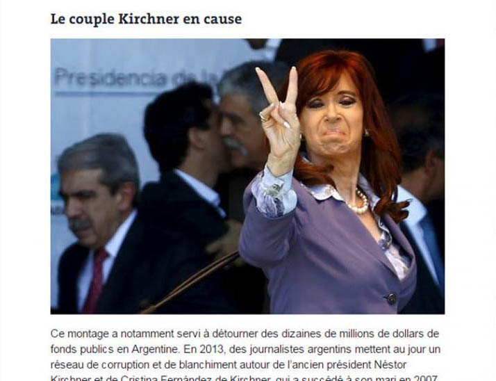 le couple kirchner en cause