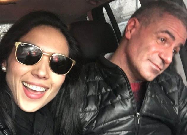 Daniel Rafecas y la modelo Linda Cortez