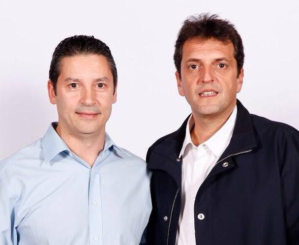 Gustavo Menéndez con Massa