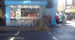 Explozia unei guri de canal în Dublin