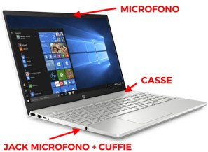 prese audio laptop
