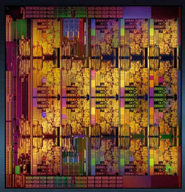 Die del procesador Intel Skylake-X en versión 18 cores.