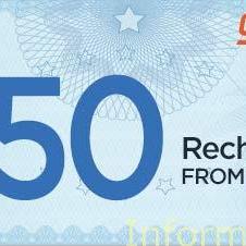 Rs 50 free Talktime offer