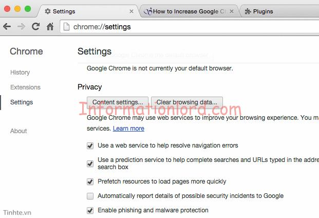 speed chrome with cookies clearing, clean google chrome history