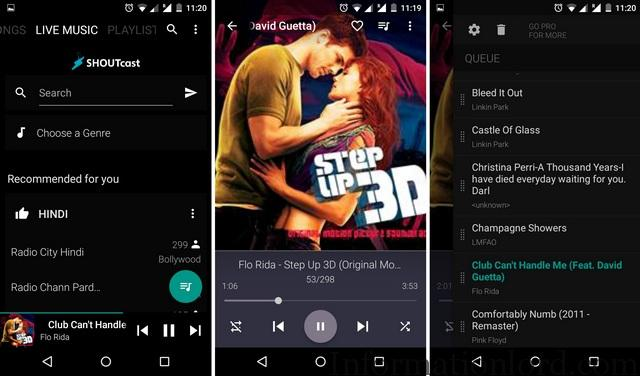 Android BlackPlayer Music App To Listen to Endless music