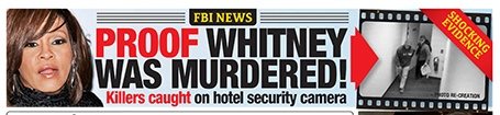 NEWS BANNER OF THE UK NATIONAL ENQUIRER WHICH FIRST BROKE THE NEWS OF HUEBL'S NEW EVIDENCE