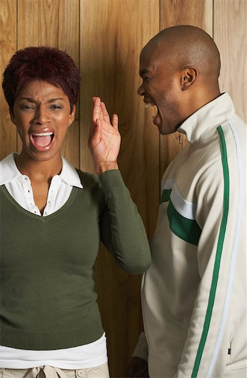 file photo of black couple yelling at each other