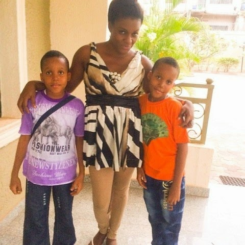 Actress Queen Nwokoye Shares Picture Of Her Twin Sons ...