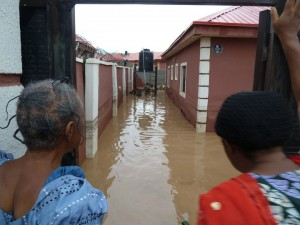 Image result for Rainstorm destroys houses and poles in Akure community