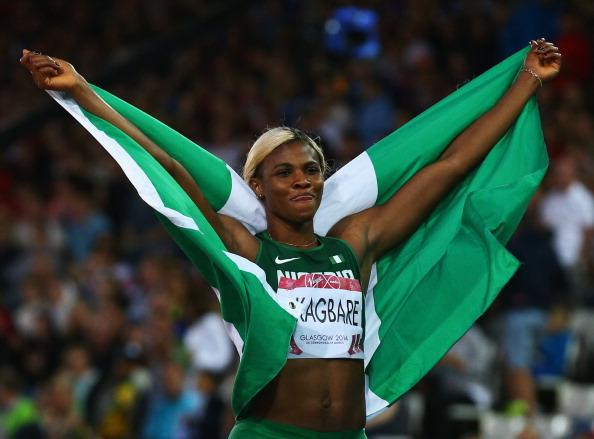 Okagbare Clinches 2014 Commonwealth Games 200m Sprint in Scotland. Image: Getty.