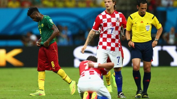 Alex Song's Last Game for Cameroon Ended On a Bitter Note after the West Midfielder Received a Red for Decent in a World Cup Game. Image: Getty.