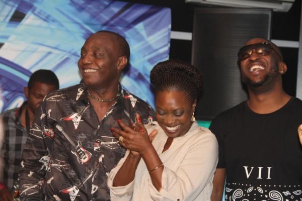 Pix 12(L-R): Nigerian Idol Season 4 Judges, Dede Mabiaku, Yinka Davies and Darey Art Alade at the event.