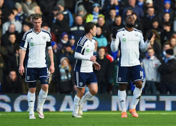 Victor Anichebe Celebrates His Goal Against Birmingham City at St. Andrews Stadium in an FA Cup 4th Round. Image: Getty.