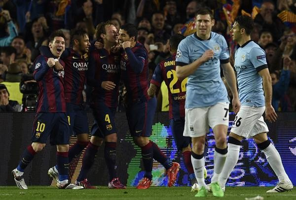 Milner Pictured at the Camp Nou During Man City's Defeat By Barcelona. Image: AFP/Getty.