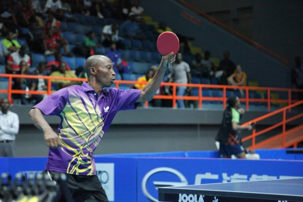 Taofik Maya Eliminated in the Round of 32 of the Mains Draw of the Men's Singles Event of the 2015 Lagos Open. Image: NTTF.