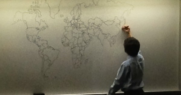 Autistic 11 year old draws world map from memory in new york 11 year old buy with autism world map gumiabroncs Choice Image