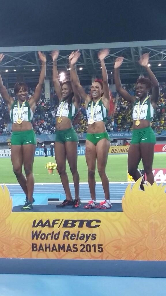 Nigeria Better Their 4x200m Women's Relay National Record in Nassau. Bahamas to Clinch Gold at the IAAF World Relays. Image: IAAF Twitter.