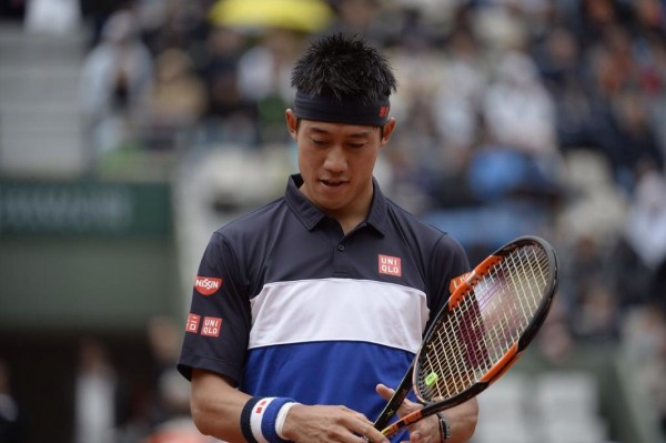 Kei Nishikori Becomes the First Japanese Man Theough to the Last 8 of the French Open in the Past 73 years. Image: Getty.