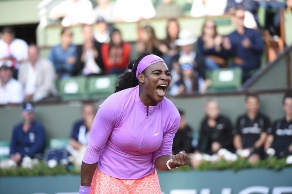 Serena Williams Advances Into French Open Last 8 With Win Over Sloane Stephens. Image: RG via Getty.