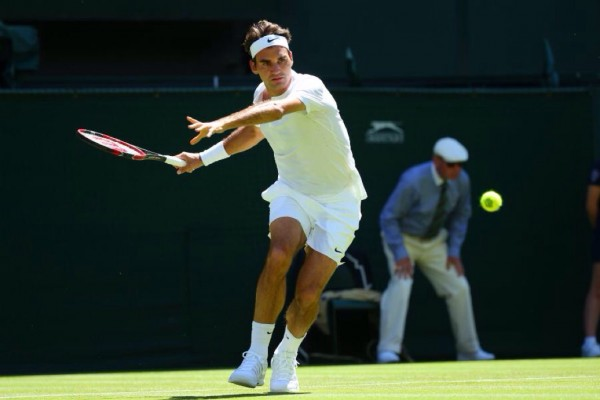 Roger Federer Secures His 35th Win of 2015 in the First Round of Wimbledon. Image: AELTC.