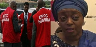 EFCC operatives and Allison Madueke