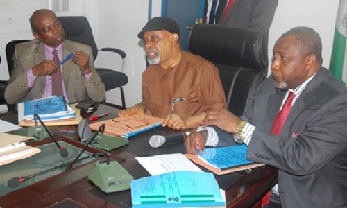 Minister of Labour and Employment-Chris Ngige-Minister of State-James Ocholi