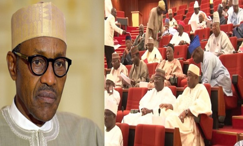 SENATE BLAST BUHARI – MR PRESIDENT WE CANNOT APPROVE YOUR LOAN WHEN YOUR CHIEF OF STAFF, SGF, OTHER AIDES ARE INCOMPETENT