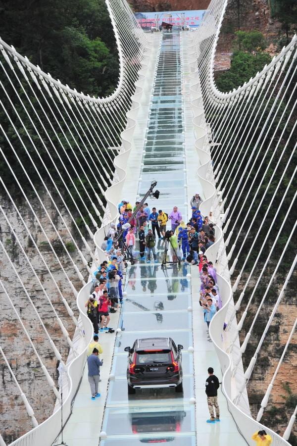 The Zhangjiajie Grand Canyon bridge