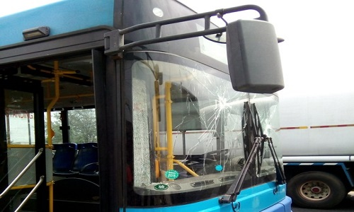 Vandalized-BRT Bus