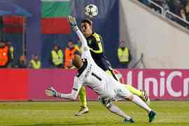 Ozil's late goal ensured an Arsenal win