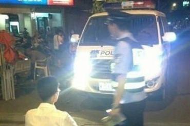 chinese police china headlights punishment