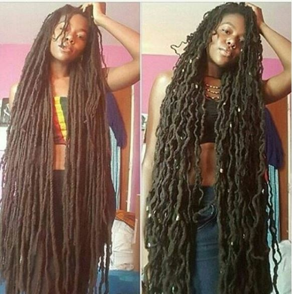 Lady Growing Her Dreads For 23 Years