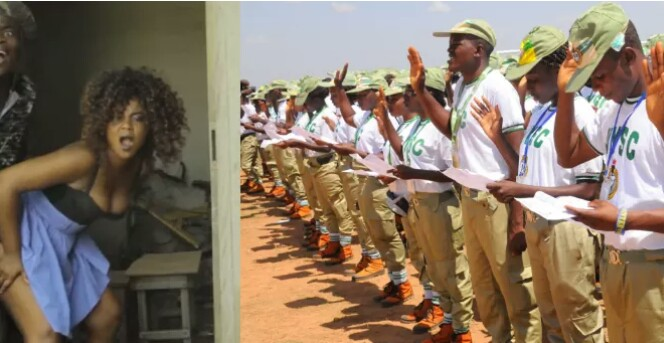 Married Female Corps Member Caught Having s*x With Colleague In Gutter, Blames Cold Weather