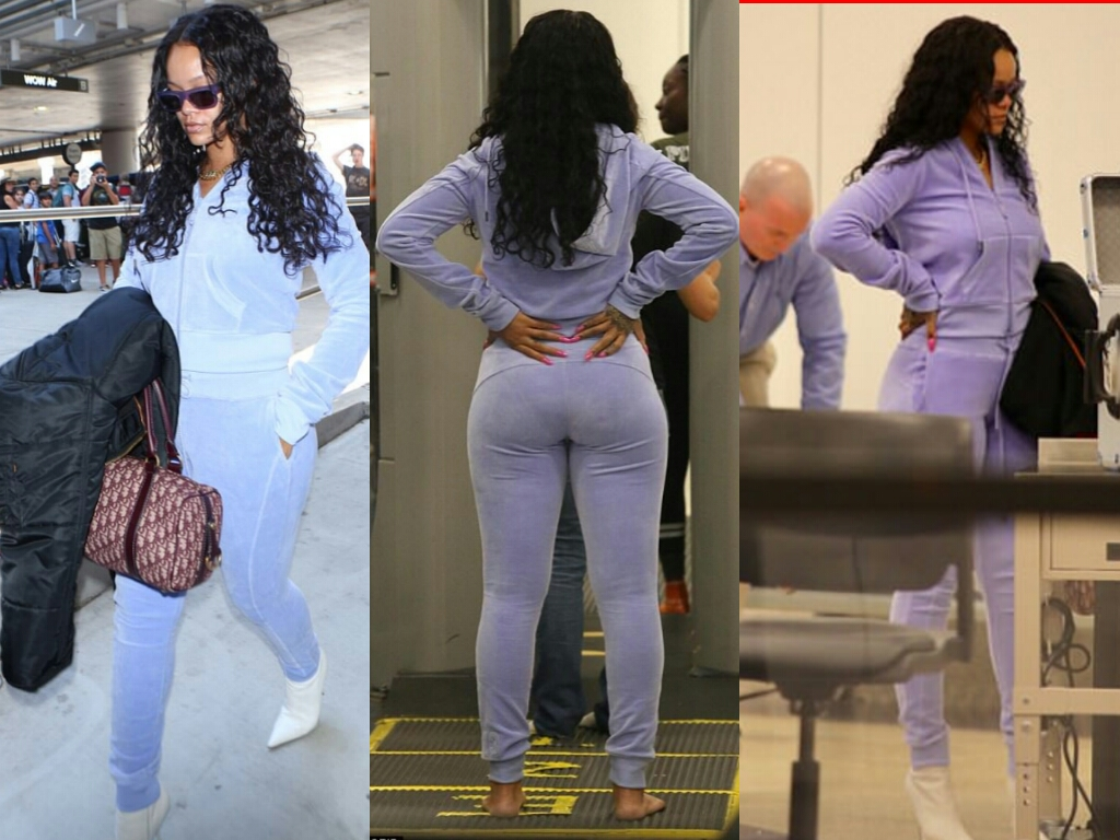 Rihanna Shows Off Thick Ass At LAX Airport (Photos) - INFORMATION NIGERIA