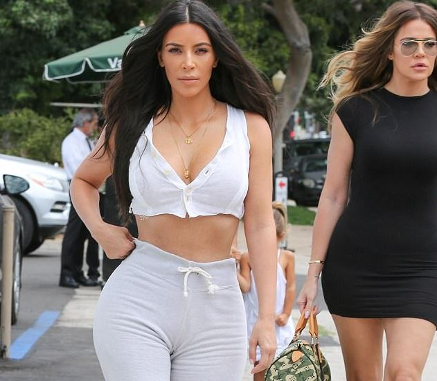 Kim Kardashian Shows Off Her Tiny Waist As She Goes To ...