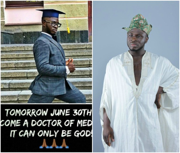 Comedian CrazeClown's inspiring story on his 10years journey to medical doctor; Photos of his Girlfriend that graduated with him