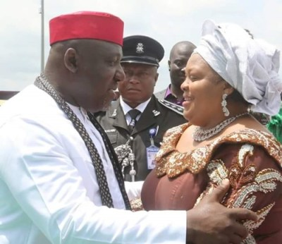 Image result for Okorocha and his Wife