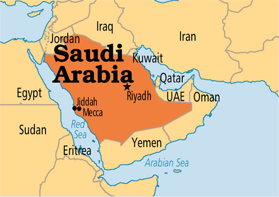 Map of Saudi Arabia - All legal processes were followed in the execution of Nigerian woman – Saudi Arabia
