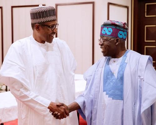 Buhari and Tinubu 1 - What Buhari said to Tinubu as he clocks 67