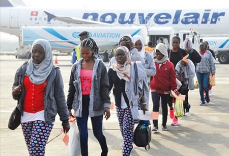 Libya slavery checkout the total number of nigerians rescued in a total of 1317 nigerians have voluntarily returned from libya in the last 10 days having been stranded in the volatile country en route europe publicscrutiny Images