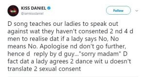 "kiss 1 - Kiss Daniel responds to critics who mentioned his tune ""Yeba"" promotes s*xual assault"