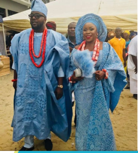 omawumi trad 1 - First Photographs From Omawumi's Conventional Marriage ceremony To Tosin Yusuf In Warri