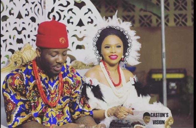 Wedding Photo of Nigerian Singer, Chidinma Ekile and Rapper