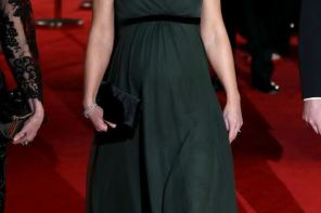 Kate Middleton & Her Baby Bump Stole The Show At The BAFTA Awards